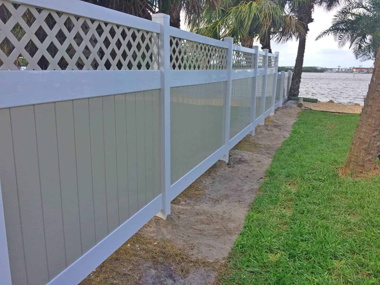 vinyl fence lattice vinyl fence cocoa beach outlet featured installation superior and rail