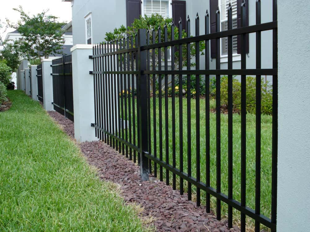 Aluminum Fence with Pressed Spear Points
