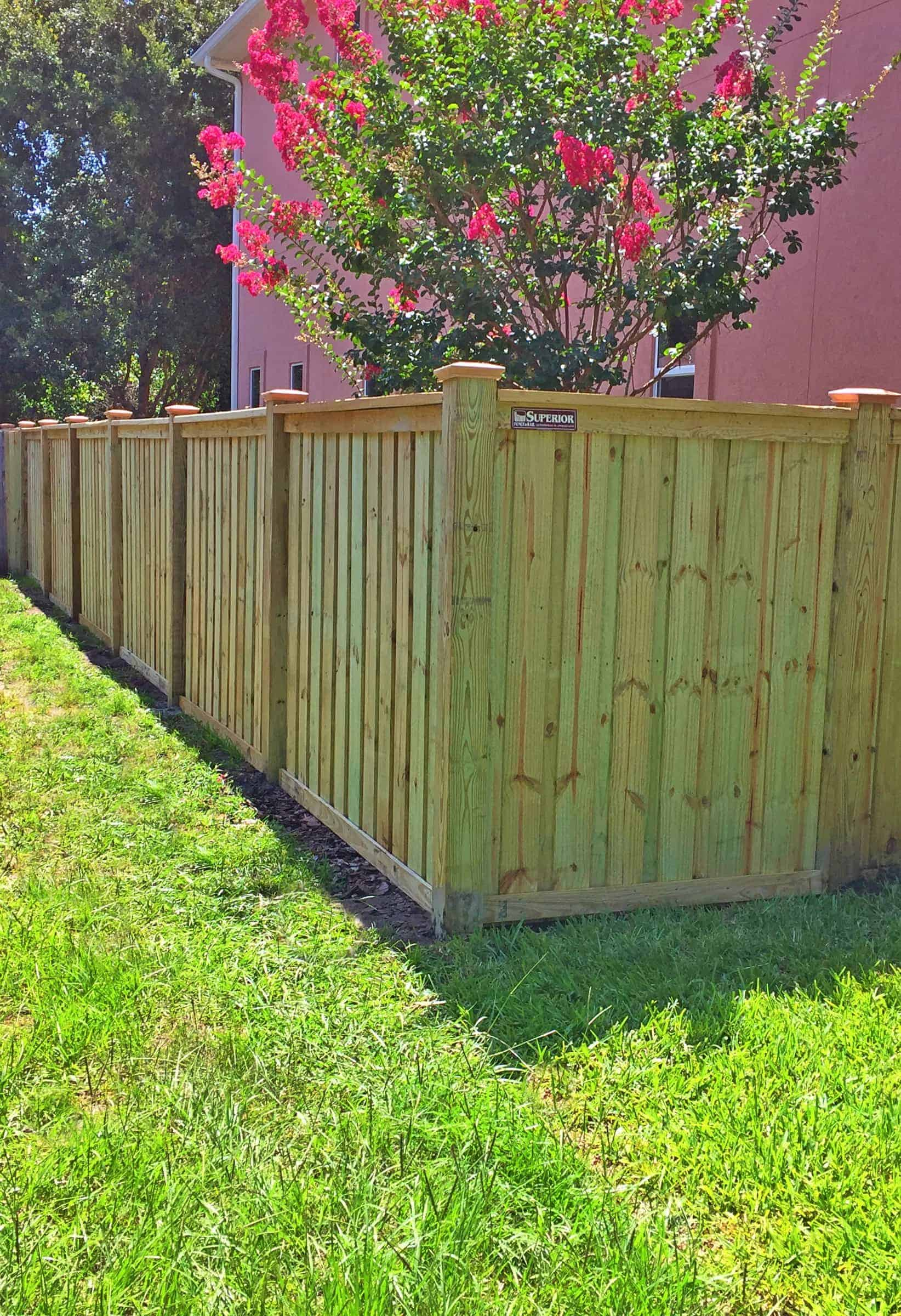 Custom Wood Fence Pictures Florida Wood Fence Gallery