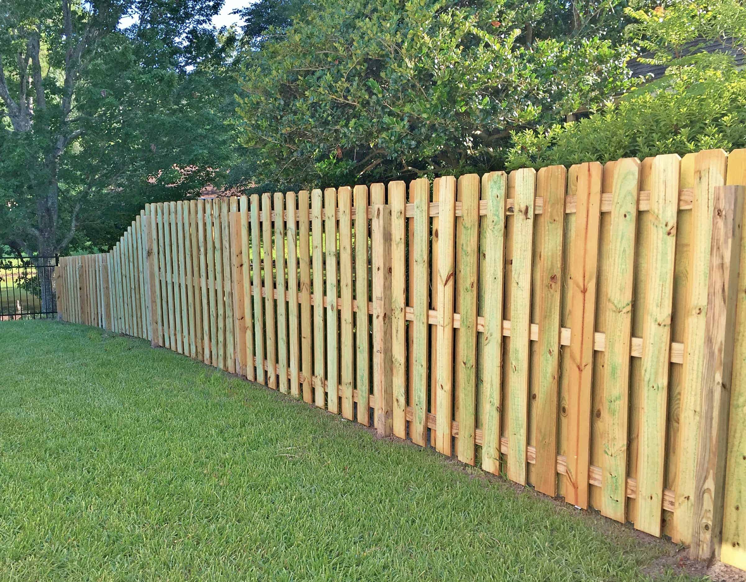 Shadowbox Wood Fence