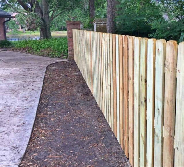 Wood Fence Jacksonville Featured Installation
