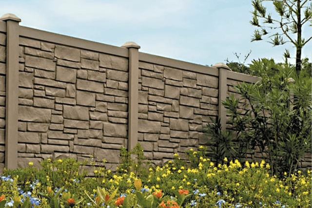 Heartwood Vinyl Fence Natural Stone
