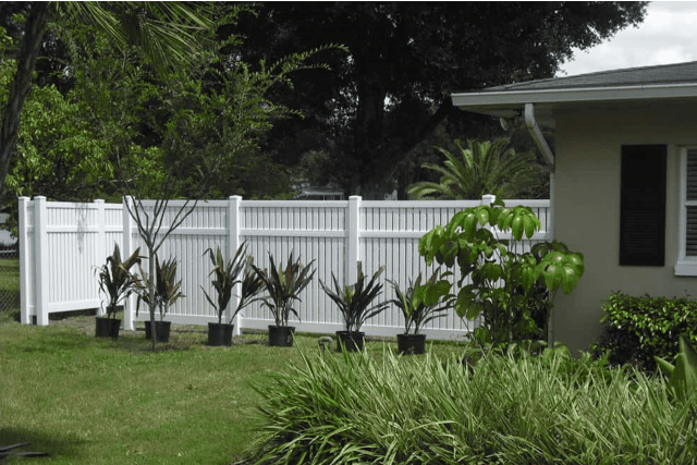 Semi-Private Vinyl Fence