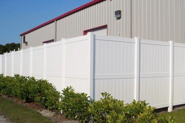 Vinyl Fence White Commercial
