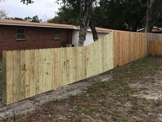Stockade Wood Fence 1