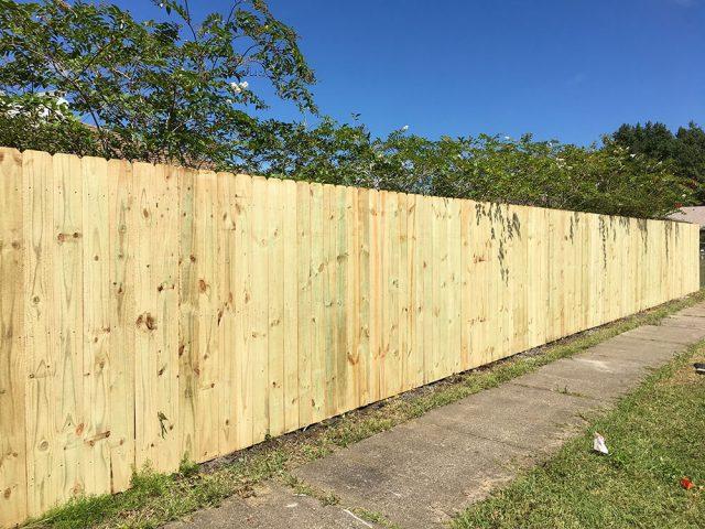Stockade Wood Fence 10