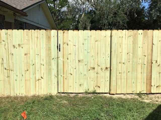 Stockade Wood Fence 11