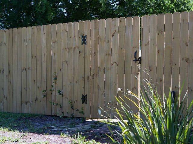 Stockade Wood Fence 12