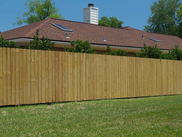 Stockade Wood Fence 14
