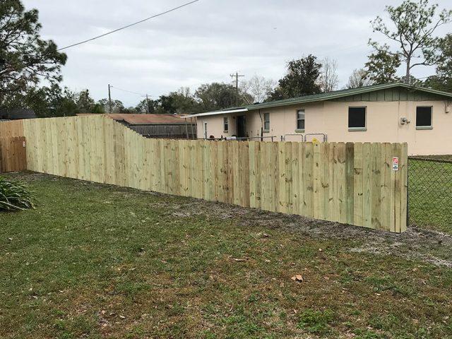 Stockade Wood Fence 2