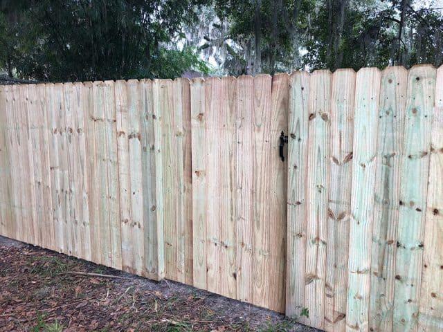Stockade Wood Fence 4