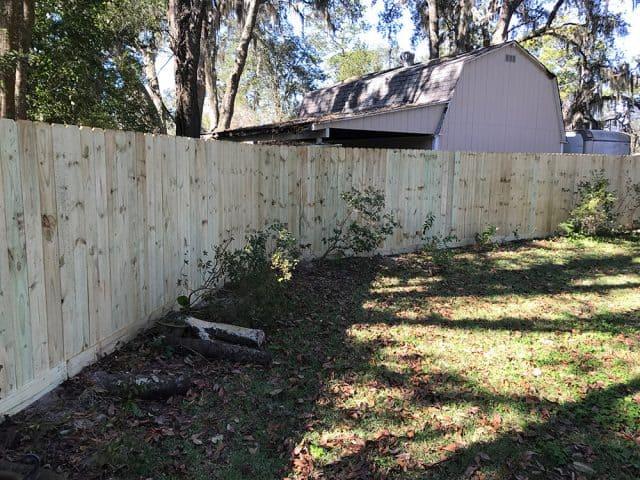 Stockade Wood Fence 6