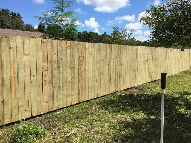 Stockade Wood Fence 7