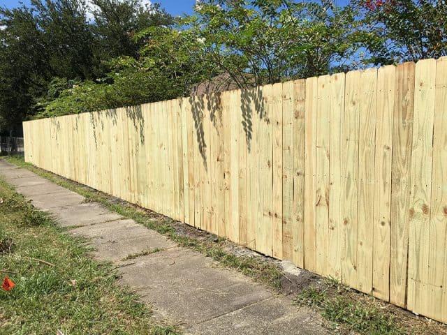 Stockade Wood Fence 9
