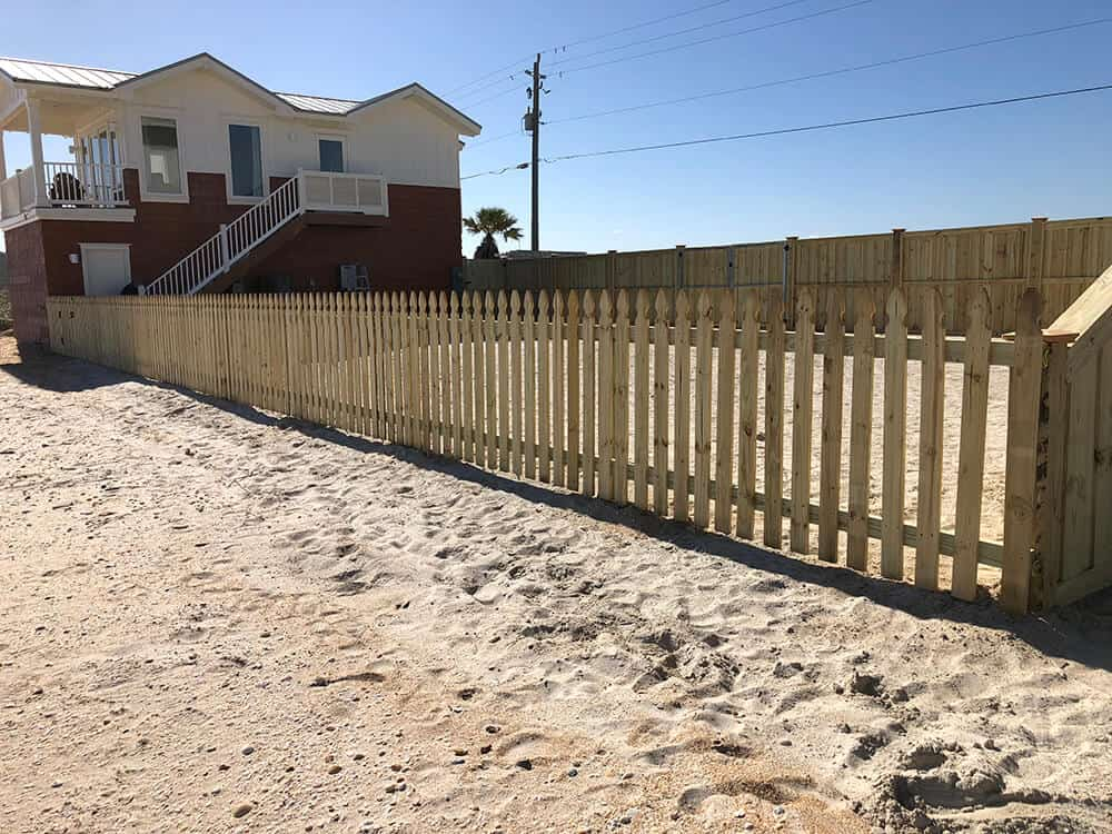 Wood Fence Pickett 4 Superior Fence Amp Rail Inc