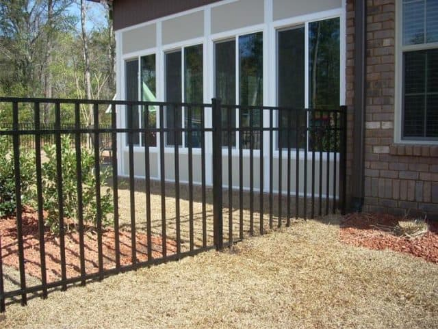 4'H Black Sterling Aluminum Fence
