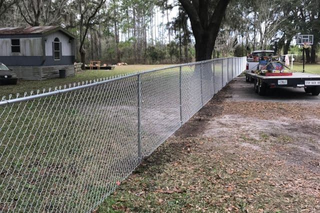 Residential Chain Link Fence 9