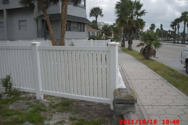 Vinyl Semi-Privacy Fence