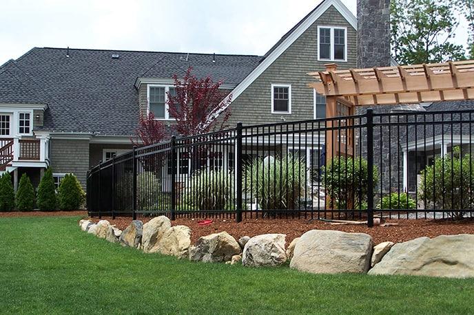 Steel fence type in Texas