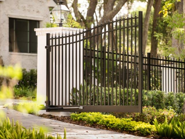 Bronze Estate Gate with Finials