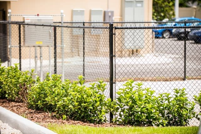 Chain Link Fence - Commercial Black Vinyl Coated