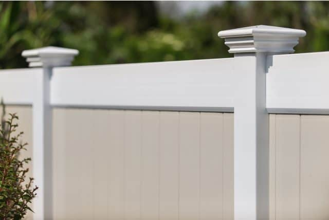 hamilton vinyl privacy fence tan infill