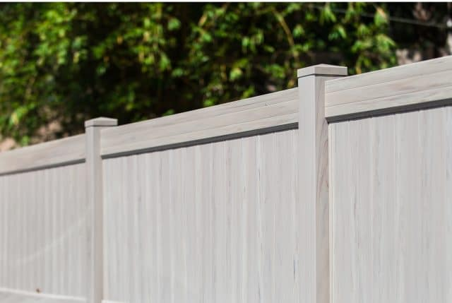heartwood vinyl privacy weathered gray