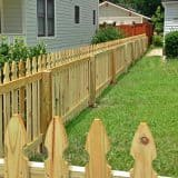 Wood picket fence from Apex Fence Company
