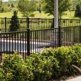 Ocala Fence Company Black aluminum fence